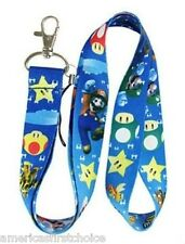 Nintendo Blue Mario Brothers Lanyard/Landyard ID Holder Keychain-New w/ Tags!