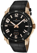 Jacques Lemans GU333B SWISS MADE Mens Automatic Watch Rose Gold Tone $1595 NEW