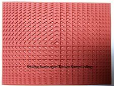 Triangle Repetition Unmounted RUBBER Texture Stamp Polymer PMC Clay Molding Mat