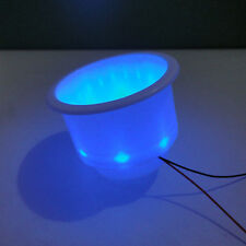 4x 8LED Blue Plastic Cup Drink Holder Marine Boat Car Truck Camper Free shipping