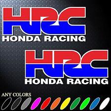 "6.0""X2P CLR HRC HONDA RACING TEAM STICKER DIE CUT-OUT DECAL VINYL RACING SPORT"