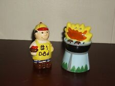 **New** # 1 Dad and his Grill Salt and Pepper Shakers