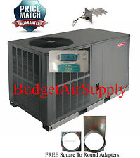 2 Ton 14- 14.5 seer Goodman HEAT PUMP Package Unit GPH1424H41+Heat+Tstat+Sq2RD