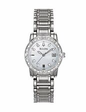 Bulova Women's 96R105 24-Diamonds Quartz Mother of Pearl Dial Bracelet Watch