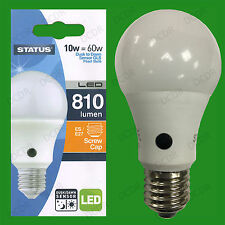 2x 10W = 60W LED GLS Dusk Till Dawn Sensor Security Night Light Bulb ES E27 Lamp