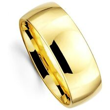 Mens Womens Solid 14K Yellow Gold Plain Wedding Ring Band 8MM size 8