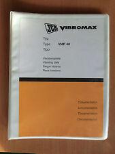 Betriebsanleitung Ersatzteilliste JCB Vibromax VMP48 Vibrationsplatte parts list