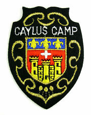 ECUSSON MILITAIRE MILITARIA BRODÉ EMBROIDERED PATCH MERESSE CAYLUS CAMP