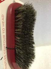 ANNIE CURVED BRISTLES WAVE BRUSH 100% NATURAL BOAR BRISTLES #2340