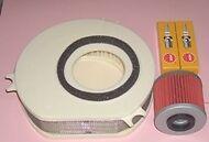 Service kit:- Plugs Air & Oil filter to fit YAMAHA XVS XVS1100 Drag Star 1999-09