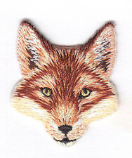 FOX HEAD - FOREST ANIMAL - ZOO - IRON ON EMBROIDERED PATCH - WILD ANIMALS