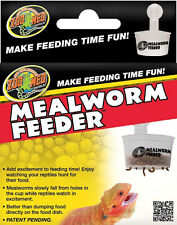 ZOO MED REPTILE MEALWORM FEEDER DISH REPTI FOOD TREATS EMPTY FREE SHIP TO USA