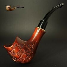 "HAND MADE  WOODEN  TOBACCO SMOKING PIPE PEAR   "" Chess ""      Made by Artisan"