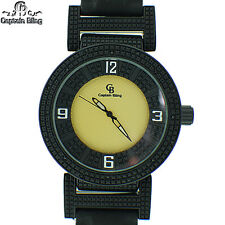 New Ice Nation Hip Hop Men's Elegant Pave Look Bullet Band Wrist Watch W2278