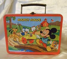 VINTAGE ULTRA RARE 1954 MICKEY MOUSE & DONALD METAL LUNCHBOX HTF