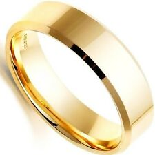 6MM Titanium Band Brushed Wedding Stainless Steel Solid Ring Men Women