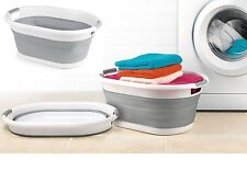 Beldray Laundry Basket Oval Collapsible 27L Spacious with Handles Space Saving