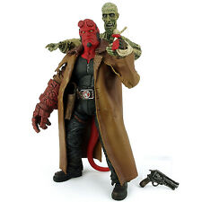 "Hellboy with Ivan Closed Mouth / Open Fist 7.5"" Action Figure Rare Mezco 2004"