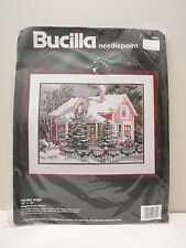 Vintage 1994 Bucilla Needlepoint Kit Holiday House by Erin Dertner #4681
