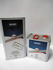 TRASPARENTE POLIURETANICO ALTO SOLIDO BASIC CLEAR RM 2K 5LT + CAT R-M BASF