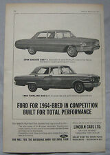 1963 Ford Galaxie 500 & Fairlane 500 Original advert