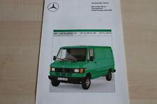 144957) Mercedes 207 209 D 210 - technische Daten - Prospekt 09/1987