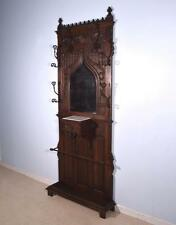 *Antique French Gothic Hall Tree/Hall Stand/Coat/Hat Rack