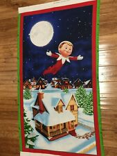 Christmas Elf on the Shelf 24 x 44 Quilters Cotton Fabric Panel sewing craft