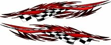Boat Car Truck Graphics Racing Flag Flames Decals Stickers wrap 2- 50x10