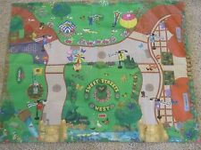 FISHER PRICE Sweet Streets West PLAY MAT Main Street Road 2001 Fabric Cloth