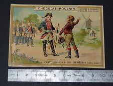 CHROMO CHOCOLAT POULAIN 1900-1914 MOTS HISTORIQUES MEUNIER SANS-SOUCI