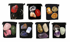 *21 Stone* MEGA- CHAKRA HEALING Tumbled Crystal Set + 7 Pouches & 7 Descriptions