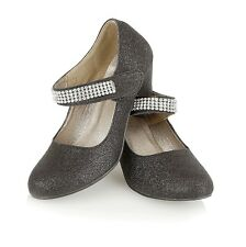 Truffle Girls Low Wedge Heel Mary Jane Party Velcro Shoes