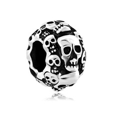 Skull Halloween Skeleton Spacer Charm Beads Pandora Jewelry Charms Bracelet New