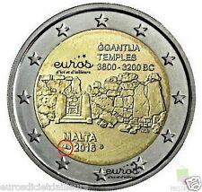 """2 euros Malte 2016 """"Ggantija"""" comportant le poinçon Monnaie de Paris - UNC"""