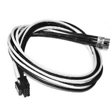 8pin CPU White Black Sleeved PSU Cable EVGA Silverstone Coolermaster Seasonic