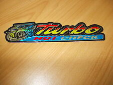 TURBO ,3D FOIL STICKER  /HOT CHECK/ DECORATIVE DECAL .