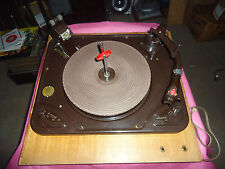 GARRARD RC 88 RECORD PLAYER TURNTABLE WITH  PLINTH , 45 RPM RECORD STACK ADAPTOR
