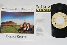 "WINGS FEAT. PAUL MCCARTNEY -Mull Of Kintyre- 7"" 45 mit Product Facts Promo-Flyer"