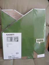2 Pack IKEA Kassett Green Magazine File Organizer Holder Storage Office NEW