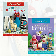 Creative Craft Knitting Collection 2 Books Set,Cute Knitted Toys,Little Land New
