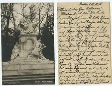 09383 - Berlin - Wagner-Denkmal - Ansichtskarte, datiert 18.10.1910