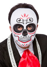 ADULT DAY OF THE DEAD MASK Voodoo Sugar Skull Skeleton Fancy Dress Costume 9927