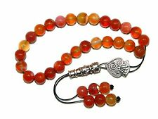 A0350 - Loose String Greek Komboloi Prayer Beads Fidget Beads Natural Agate