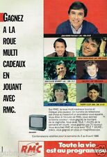 Publicité advertising 1988 Radio RMC avec Jean pierre Foucault Sylvie Poinsot