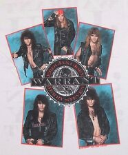 S * NOS vtg 80s 1989 WARRANT t shirt * dirty rotten filthy stinking rich * WRT2