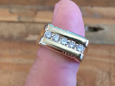 QUALITY! Men's 14KT YELLOW Gold Channel Set .50CT Diamond Ring Size 9