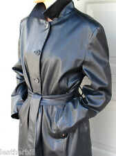 BLACK VINYL PVC TRENCH COAT  -   RAIN COAT LARGE
