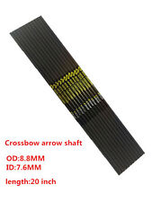 12pcs/Pack archery carbon arrow shaft 20 inch crossbow arrow shaft for hunting