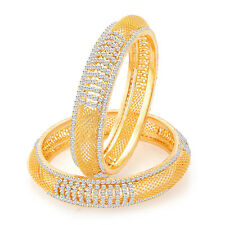 Sukkhi Modish Gold Plated AD Bangles For Women